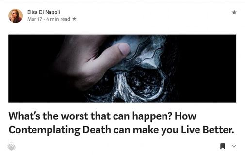 Medium Article by Elisa Di Napoli