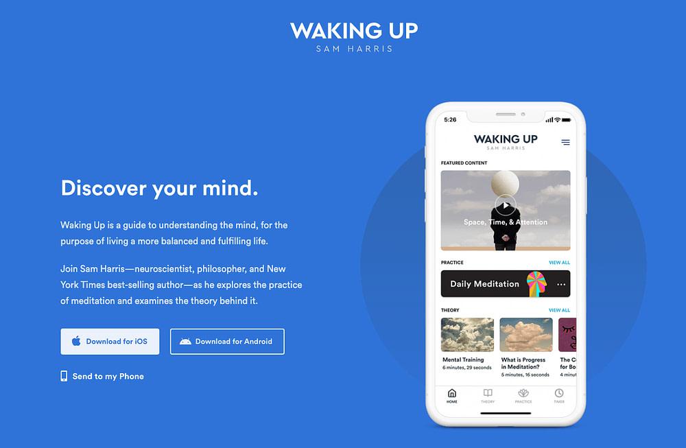 waking up sam harris app