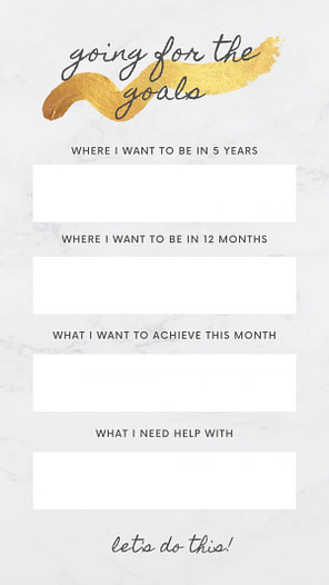 goal setting graphic