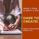 dare to create workshop week 1